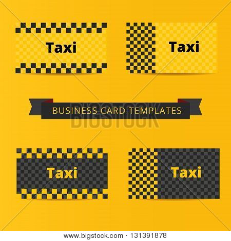 Taxi business card template of yellow and black color