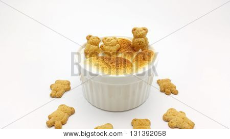 S'more Dip With Bear Shape Cookie