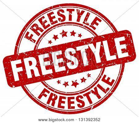 freestyle red grunge round vintage rubber stamp.freestyle stamp.freestyle round stamp.freestyle grunge stamp.freestyle.freestyle vintage stamp.