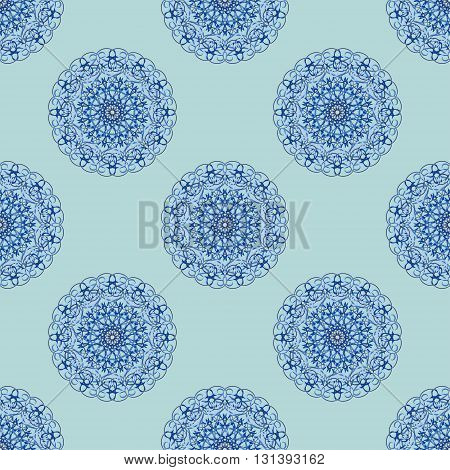 Vector Seamless Pattern. Modern Texture. Repeating Endless Abstract Hand Drawn Background