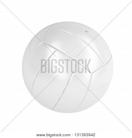 White leather volleyball ball isolated on white background, 3D illustration