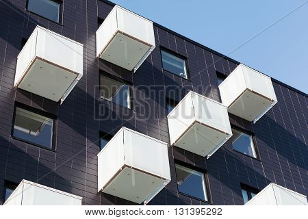 Abstract  Architecture, Cube Shaped Balconies
