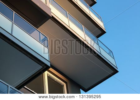 Architecture, Balconies With Glass Railings
