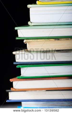 Feck books noisy black. Shot in studio.