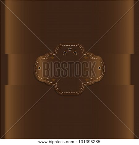 Chocolate color and label background vintage style Greeting card template or background