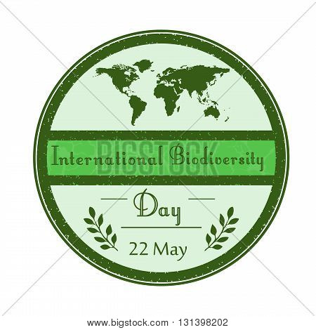 Vector illustration of International biodiversity day background