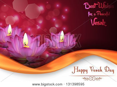 Vector illustration of Vesak Day background banner