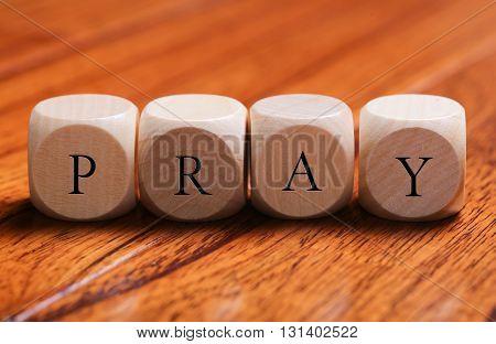 Pray Word Concept