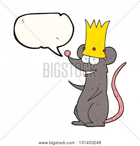 freehand drawn speech bubble cartoon rat king