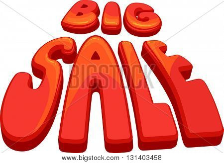 Typography Illustration Featuring the Phrase Big Sale