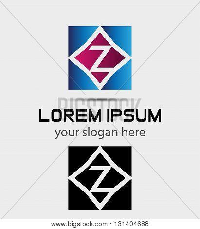 Letter Z logo symbol - vector icon
