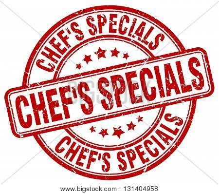 chef's specials red grunge round vintage rubber stamp.chef's specials stamp.chef's specials round stamp.chef's specials grunge stamp.chef's specials.chef's specials vintage stamp.