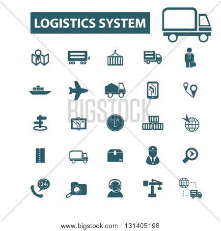 logistics system icons