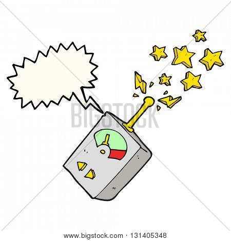 freehand drawn speech bubble cartoon scientific equipment