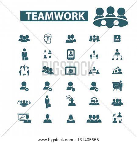 teamwork icons