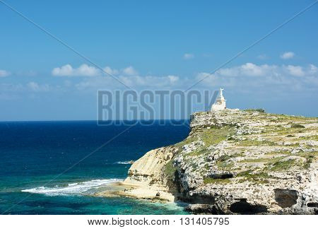 View to St Pawls island in Malta on sunny nice day, St Pawls island, Malta, Europe, panoramic view of Saint Pawls island in Malta