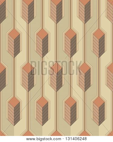 Vector seamless pattern - Modern stylish colorful decorative fabric texture with structure of vertical lines and geometric primitives