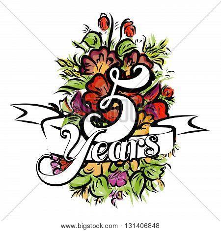 5 Years Greeting Card Design