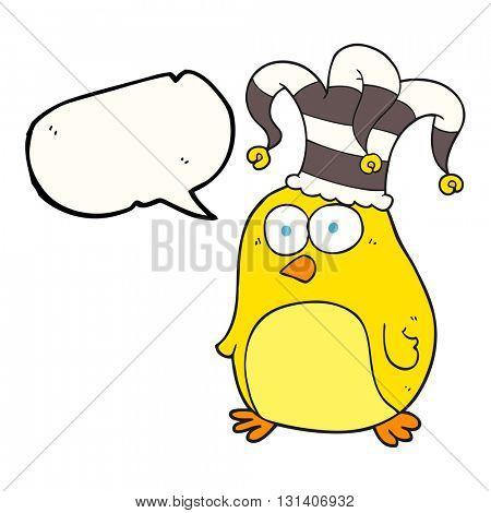 freehand drawn speech bubble cartoon funny bird