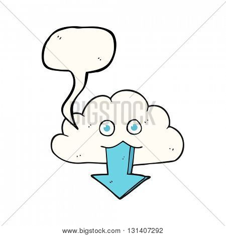 freehand drawn speech bubble cartoon download from the cloud