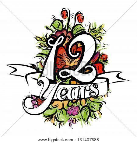 12 Years Greeting Card Design