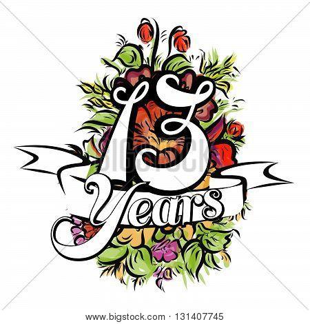 13 Years Greeting Card Design
