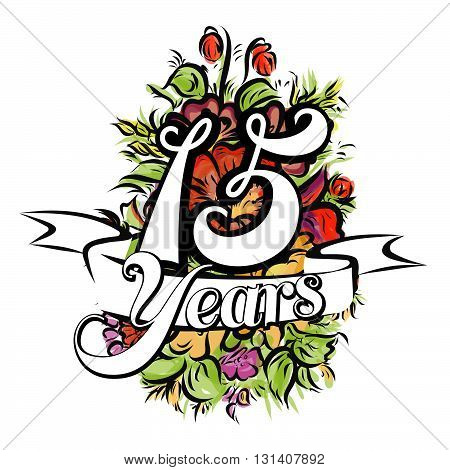 15 Years Greeting Card Design