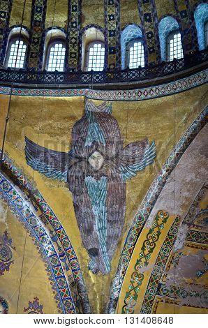 Interior Of The Hagia Sophia In Istanbul, Turkey.