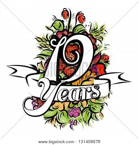 19 Years Greeting Card Design