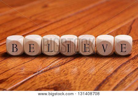 Believe Word Concept