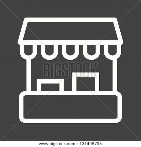 Stall, market, rack icon vector image.Can also be used for shopping. Suitable for web apps, mobile apps and print media.