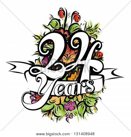 24 Years Greeting Card Design