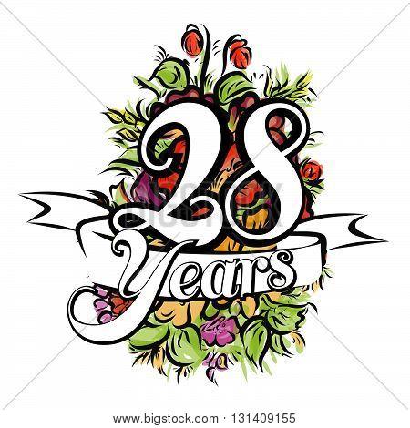 28 Years Greeting Card Design