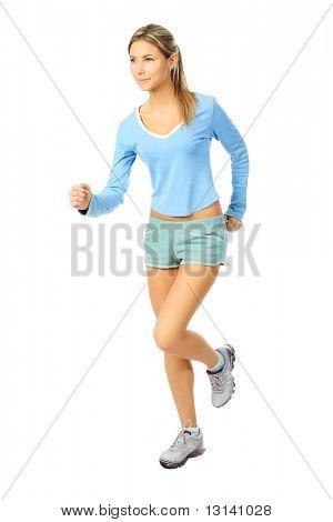 Toma de una mujer joven deportiva. Estilo de vida activo, wellness.