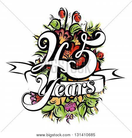 45 Years Greeting Card Design