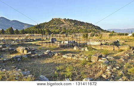 ancient city at Eretria Euboea Greece - greek archeological ancient landmarks