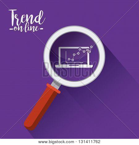 trend symbol design, vector illustration eps10 graphic