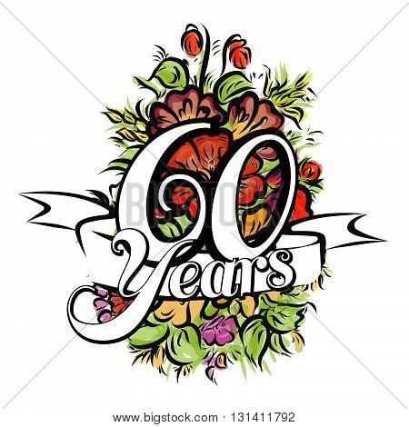 60 Years Greeting Card Design