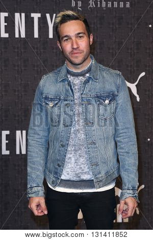NEW YORK-FEB 12: Musician Pete Wentz attends the FENTY PUMA by Rihanna AW16 Collection during Fall 2016 New York Fashion Week at 23 Wall Street on February 12, 2016 in New York City.