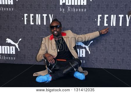 NEW YORK-FEB 12: Singer Wale attends the FENTY PUMA by Rihanna AW16 Collection during Fall 2016 New York Fashion Week at 23 Wall Street on February 12, 2016 in New York City.