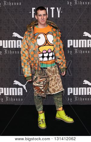 NEW YORK-FEB 12: Fashion designer Jeremy Scott attends the FENTY PUMA by Rihanna AW16 Collection during Fall 2016 New York Fashion Week at 23 Wall Street on February 12, 2016 in New York City.