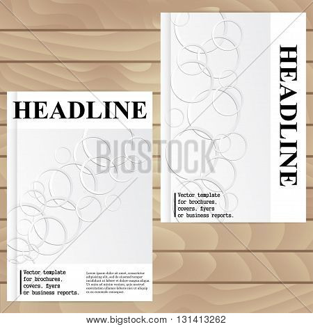 Vector Template For Brochures, Covers, Flyers Or Business Reports. Abstract Figure Circles With Shad