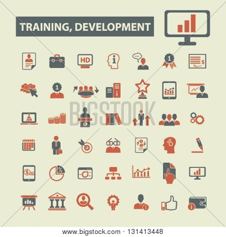 training development icons