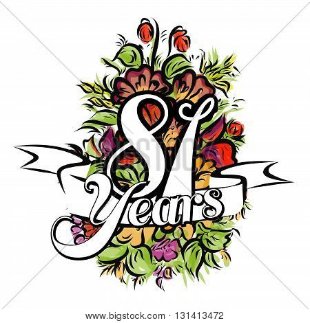 81 Years Greeting Card Design