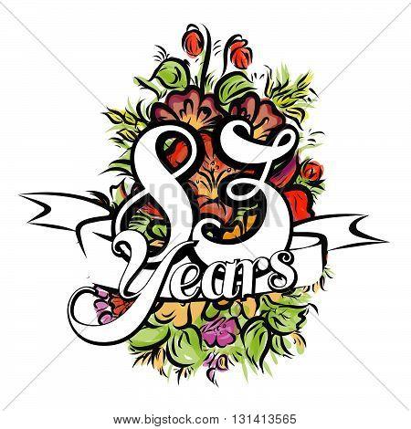 83 Years Greeting Card Design