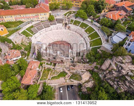 Roman Amphitheater In Plovdiv