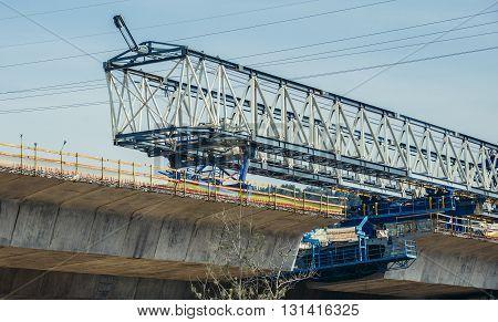 bridge construction site near Jerusalem city in Israel