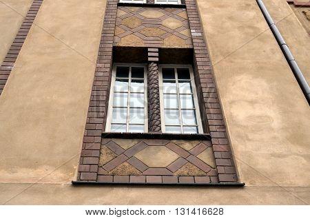 old facade of residential houses in berlin