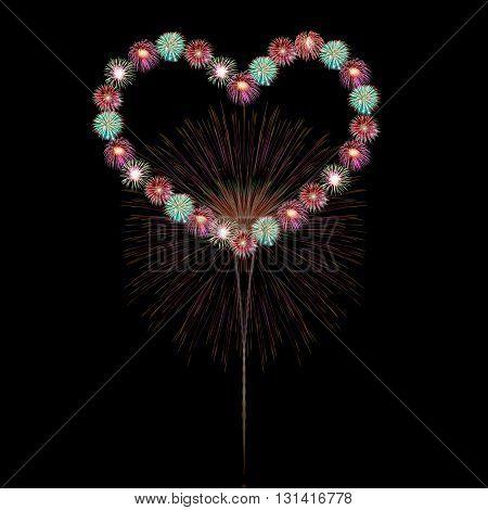 Heart Firework
