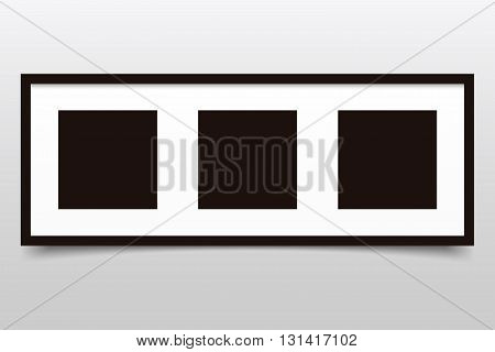 Photo frame collage with shadow on a gray background